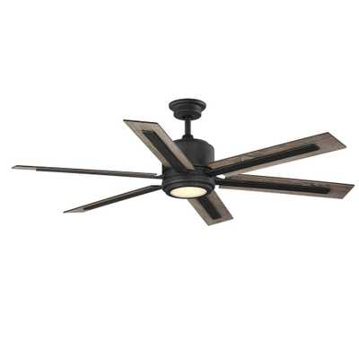 Palermo Grove 60 in. Integrated LED Indoor Gilded Iron Dual Mount Ceiling Fan with Light and Remote Control - Home Depot