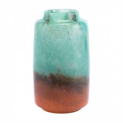 Joo Small Vase Translucent Green & Orange - Zuri Studios
