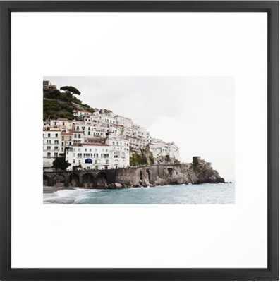 "Amalfi Coast - 22"" x 22"" - Vector Black - Society6"