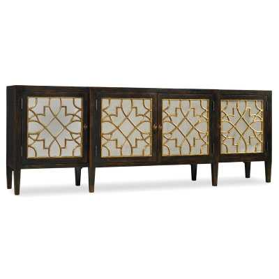 SANCTUARY FOUR DOOR MIRRORED CONSOLE SIDEBOARD - Perigold