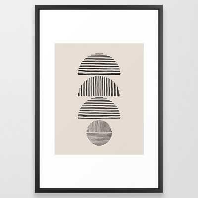 "Climb Framed Art , 26""x38"", Vector Black Frame - Society6"