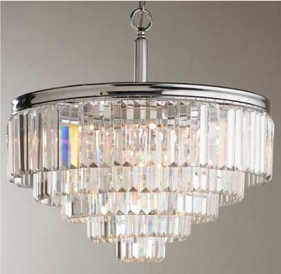 MODERN FACETED GLASS LAYERED CHANDELIER - CONVERTIBLE - Shades of Light