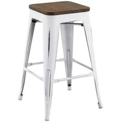 PROMENADE COUNTER STOOL IN WHITE - Modway Furniture