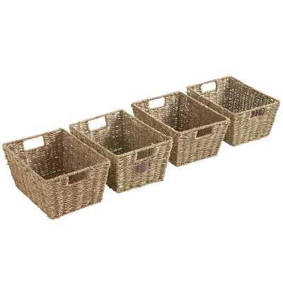 Seagrass Storage Basket set of 4 - Wayfair