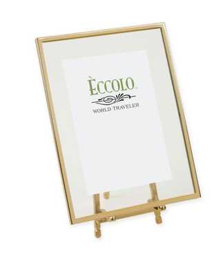 Eccolo® 4-Inch x 6-Inch Gold-Framed Floating Easel - Bed Bath & Beyond