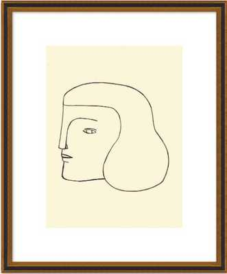 Head, 8x10, Black Gold Reverse Wood Frame with Matte - Artfully Walls