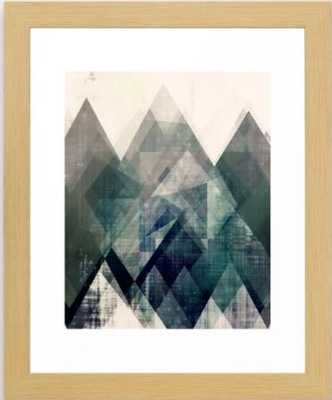 Mountains print, Abstract print, geometric wall art, abstract mountain, minimalist art, modern art, Framed Art Print 10 x 12 - Society6