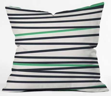 "CREW STRIPE Cool Throw Pillow - 18"" x 18"" - Outdoor Insert Included - Wander Print Co."
