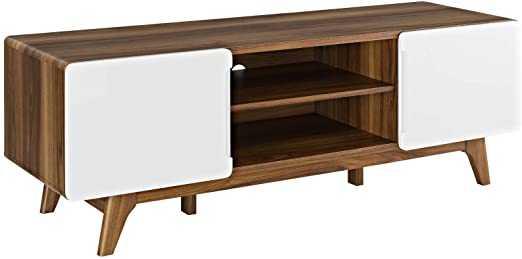 "TREAD 59"" TV STAND IN WALNUT WHITE - Modway Furniture"