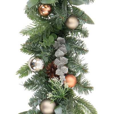 6' Christmas Unlit Copper Ornaments Pinecones Artificial Pine Garland - Wondershop™ - Target