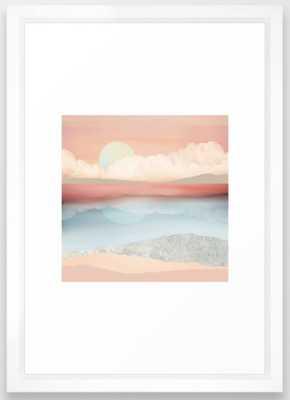 Mint Moon Beach Framed Art Print - Society6