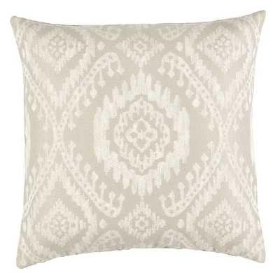 Ballard Designs Alys Ikat Pillow Cover Gray - Ballard Designs
