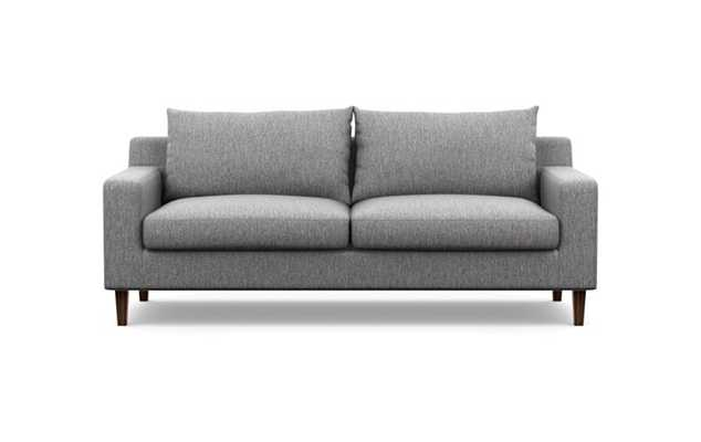 "SLOAN Fabric Sofa - 91"" Seed Oil Tapered Walnut legs - Interior Define"