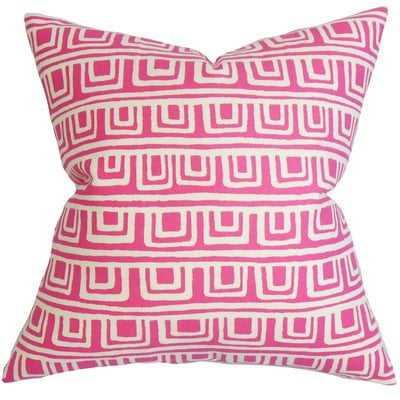 Xabrine Geometric Pillow Pink - Linen & Seam