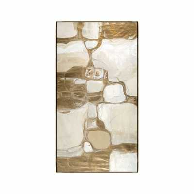 Bloquer Gold, Neutral Custom Frame - Poly Gold Float - High Fashion Home