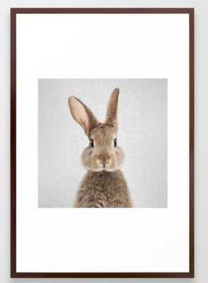 Rabbit - Colorful Framed Art Print - Society6