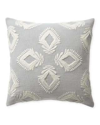 "Leighton 24"" SQ Pillow Cover - Smoke - Insert sold separately - Serena and Lily"