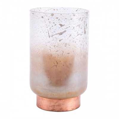 Eliza Large Vase Translucent & Copper - Zuri Studios