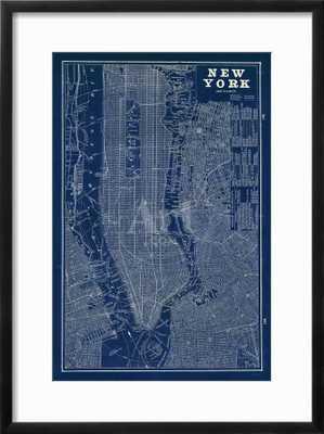 Blueprint Map New York - art.com