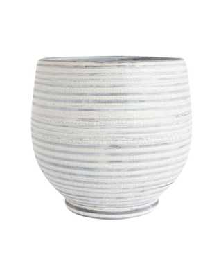 GRAY STRIPE PLANTER - LARGE - McGee & Co.