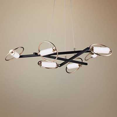 "ET2 Flare 38 1/4""W Black and Soft Gold 6-Light LED Pendant - Lamps Plus"