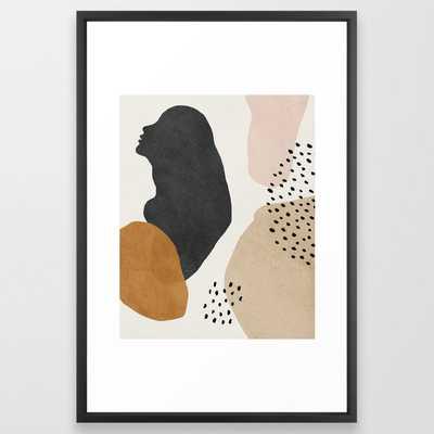 Woman silhouette art, Mid century modern art Framed Art Print - Society6