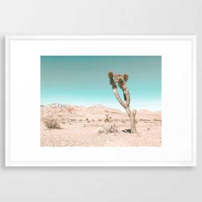 Vintage Desert Scape // Cactus Nature Summer Sun Landscape Photography Framed Art Print - Society6