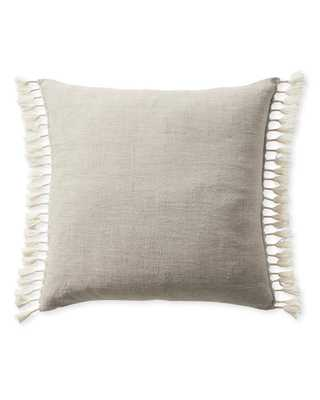 """Topanga 24"""" SQ Pillow Cover - Ivory - Insert sold separately - Serena and Lily"""