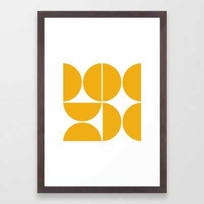Mid Century Modern Yellow Square Art Print - Small by Theoldartstudio - Society6