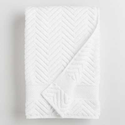 White Chevron Spa Bath  Towel - Cotton by World Market - World Market/Cost Plus