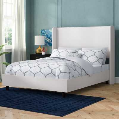 Godfrey Upholstered Panel Bed - queen - Wayfair