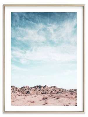 "painted canyon sky 3 Matte Brass Frame 30"" x 40"" - Minted"