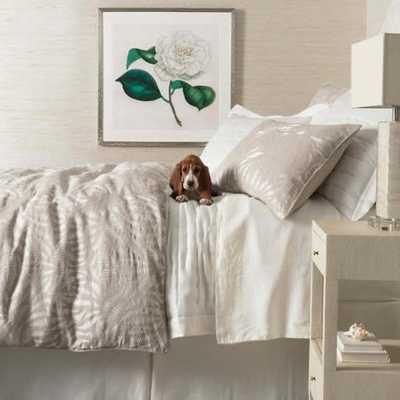 FOSSIL EMBROIDERED IVORY DUVET COVER-King - Pine Cone Hill