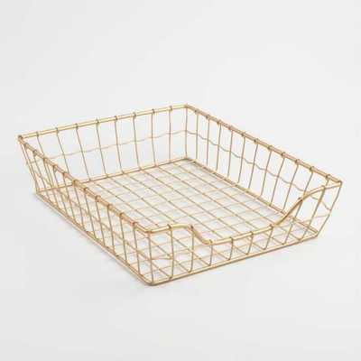 Gold Wire Antonia Paper Tray by World Market - World Market/Cost Plus