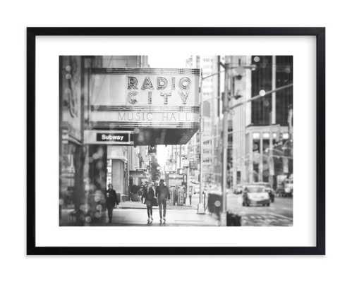 "radio city dream - black & white - 24"" by 18 - Minted"