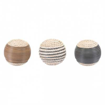 Caixa Set Of 3 Balls Brown - Zuri Studios