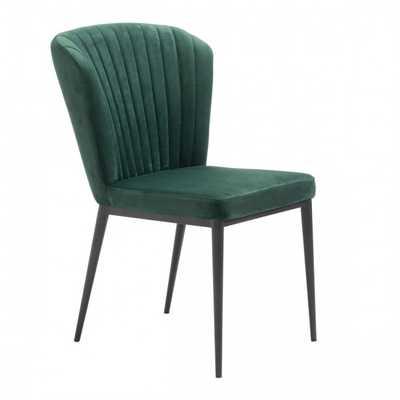 Tolivere Dining Chair Green Velvet, Set of 2 - Zuri Studios