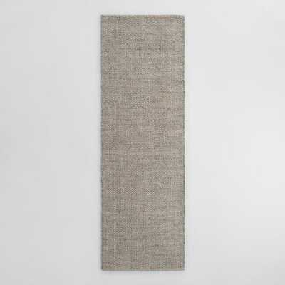 Gray Metallic Woven Jute Alden Area Rug - Runner by World Market 2.5Ftx8Ft - World Market/Cost Plus
