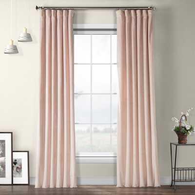 Livia Riverton Solid Heritage Plush Velvet Rod Pocket Single Curtain Panel - Wayfair