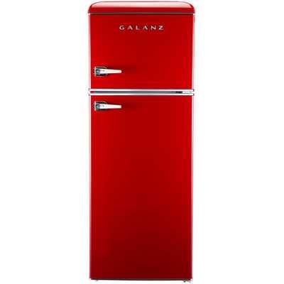 7.6 cu. ft. Mini Retro Refrigerator in Red - Home Depot