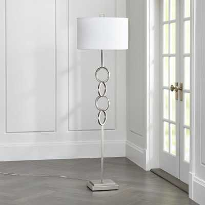 Axiom Brushed Silver Floor Lamp - Crate and Barrel
