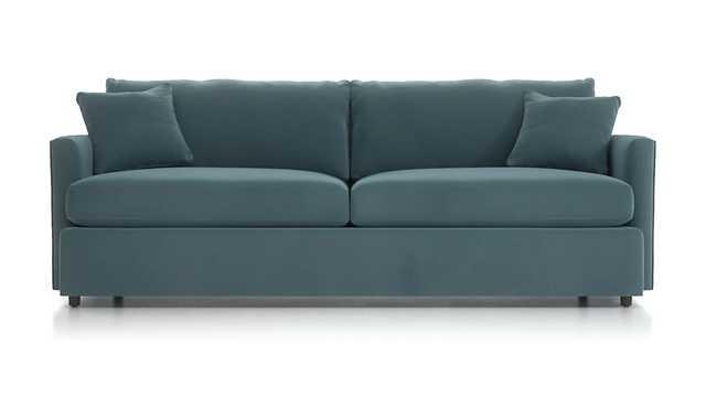 "Lounge II Petite 93"" Sofa - View Nile - Crate and Barrel"