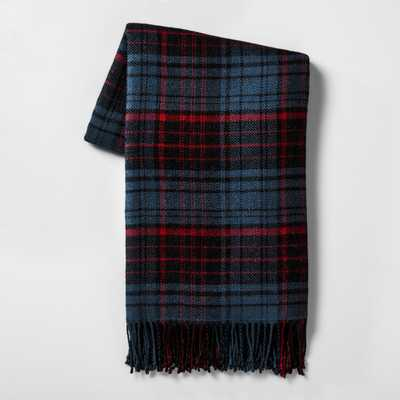 Throw Blankets - Blue/Red Plaid - Hearth & Hand™ with Magnolia - Target