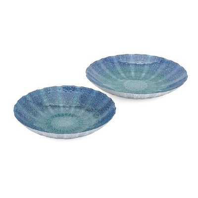 Brynlee Glass Chargers - Set of 2 - Mercer Collection