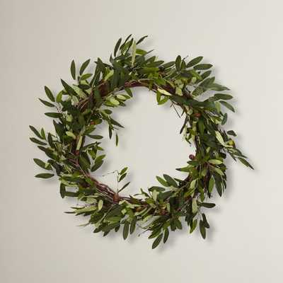 "20"" Faux Olive Branch Wreath - Wayfair"