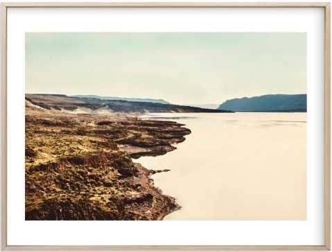 Wandering Wall, 30x40, White Border, Matte Gold Frame - Minted
