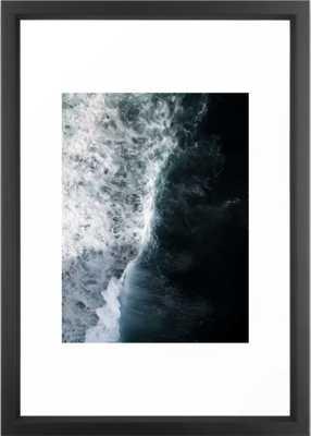 Oceanscape - White and Blue Framed Art Print - Society6