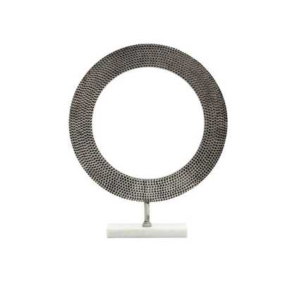LARGE HAMMERED RING ON STAND - Mitchell Gold + Bob Williams