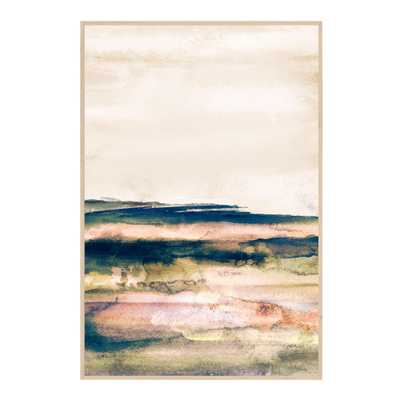 "Terra Strata II Abstract Watercolor Framed Canvas Wall Art - 25"" x 37"" - World Market/Cost Plus"
