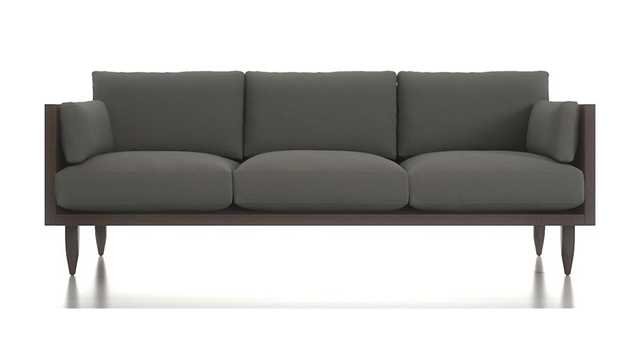 Sherwood 3-Seat Exposed Wood Frame Sofa - Crate and Barrel